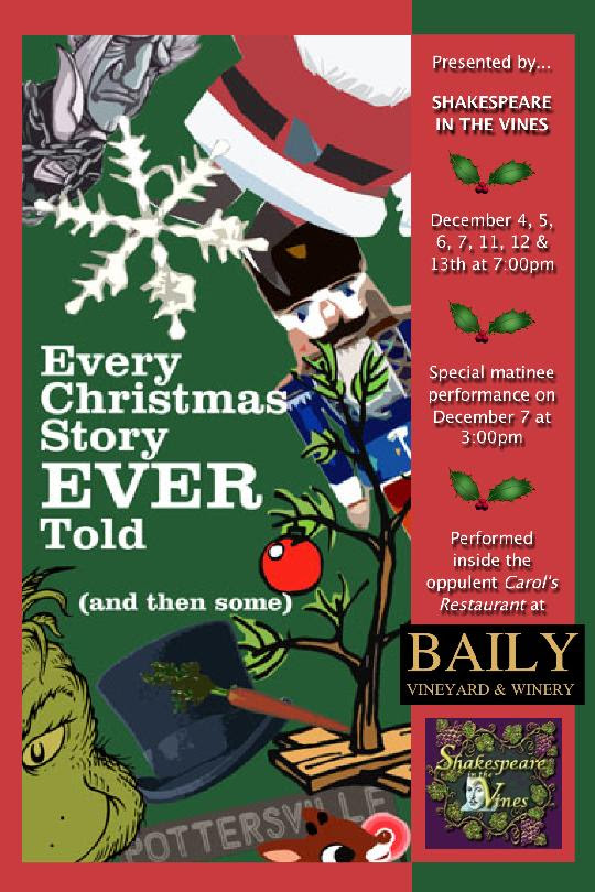 Every Christmas Story Ever Told (and then some)Baily Winery