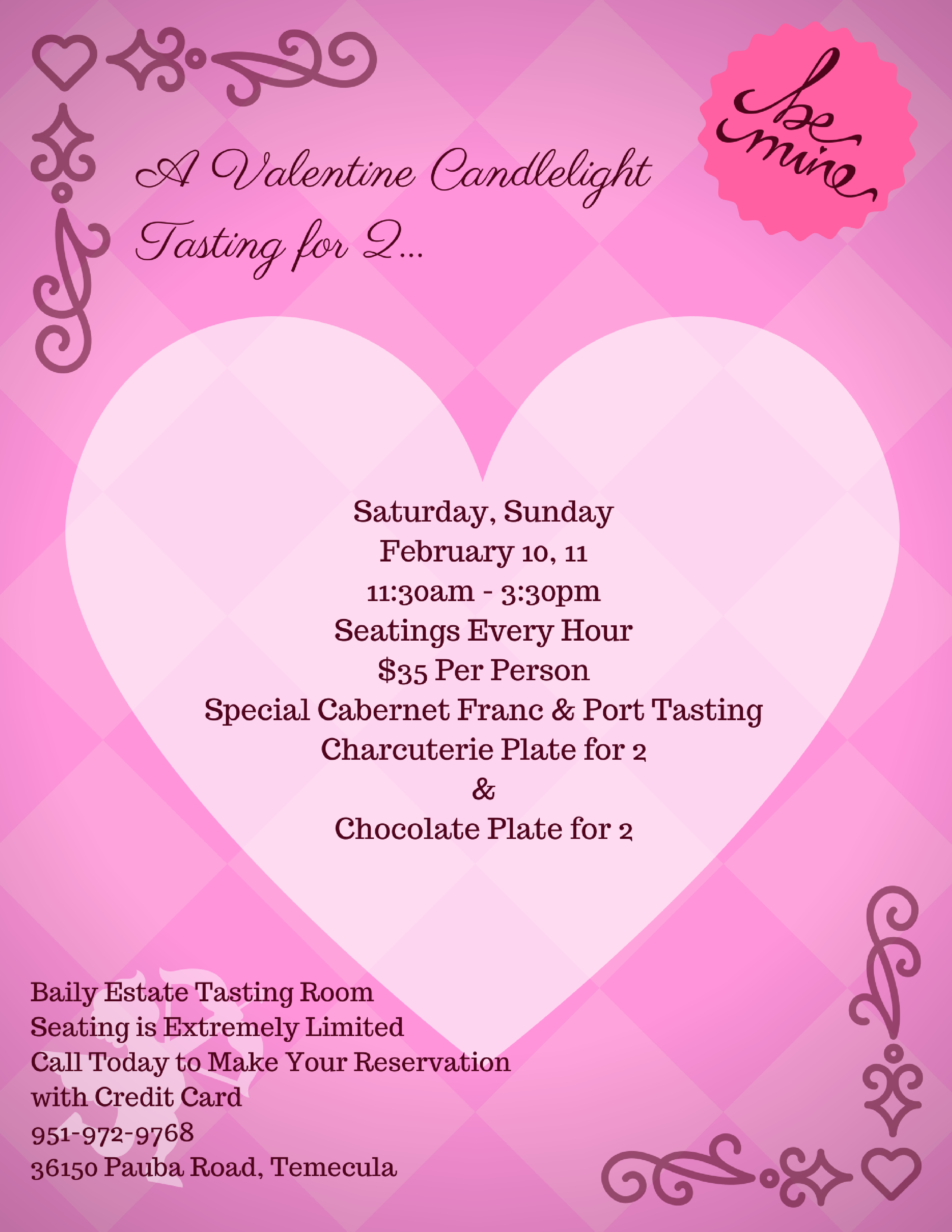Valentine S Day Events Baily Winery